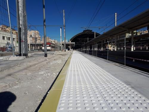 recrecido andenes estacion norte valencia villar obra civil