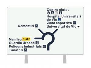 Nueva señalización de orientación para el Ajuntament de Vic