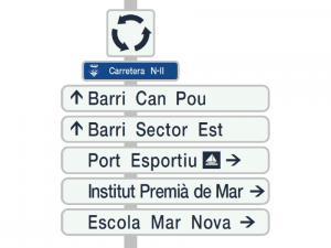 Nueva señalización de orientación para el Ajuntament de Premià de Mar