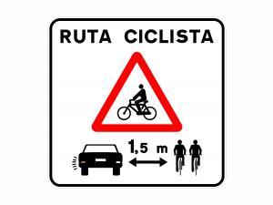 grupo villar panel bicis señalización señal ciclistas